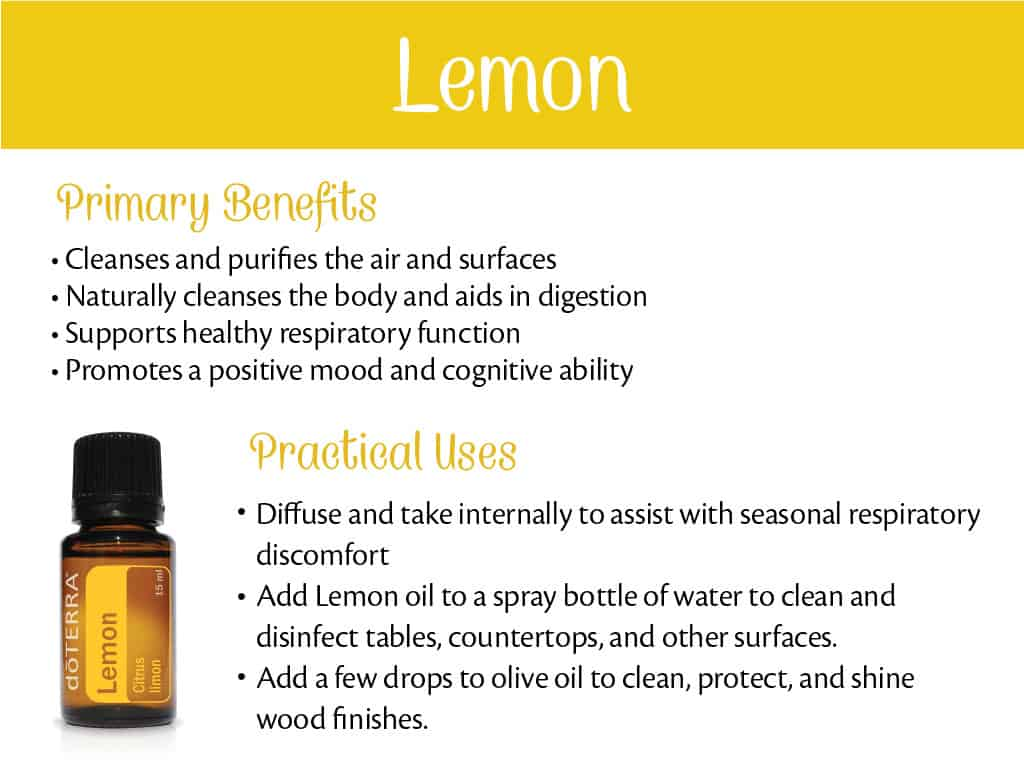doTERRA Lemon Benefits and Uses