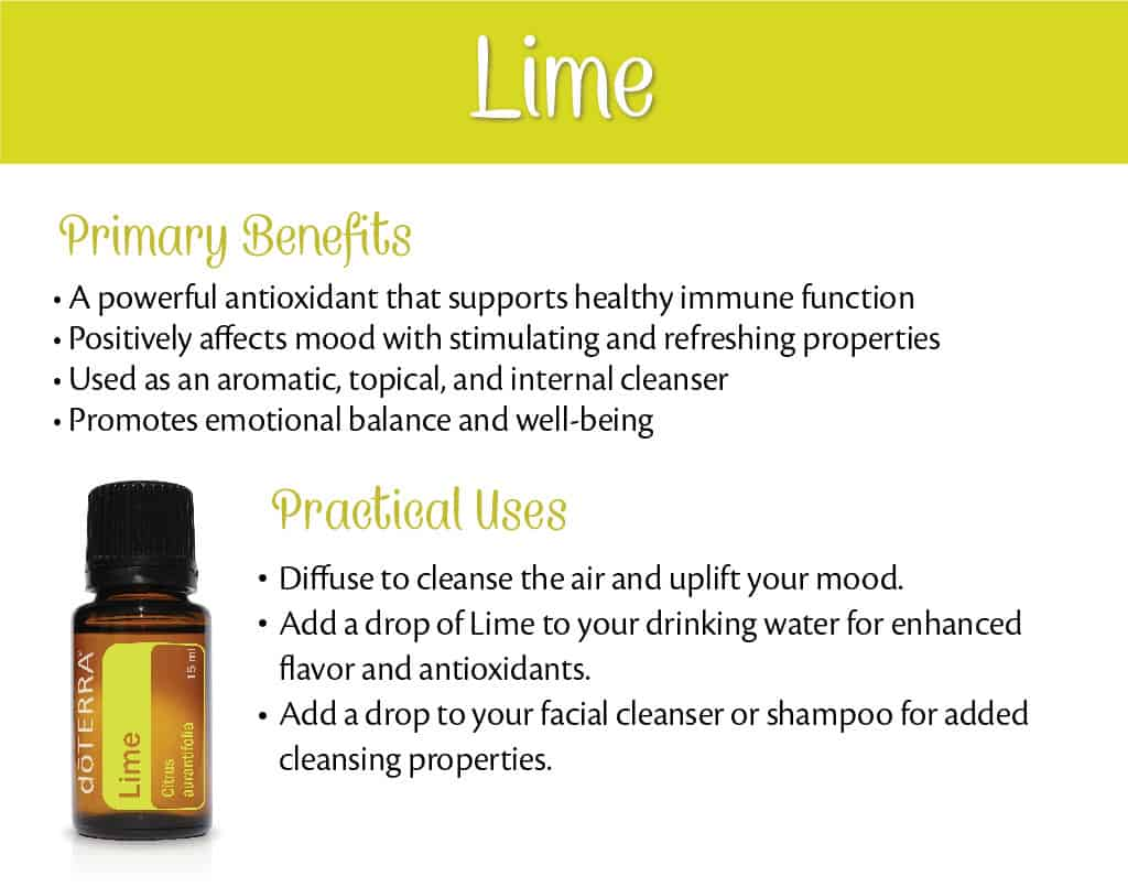 doTERRA Lime Benefits and Uses