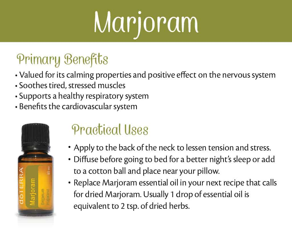 doTERRA Marjoram Benefits and Uses