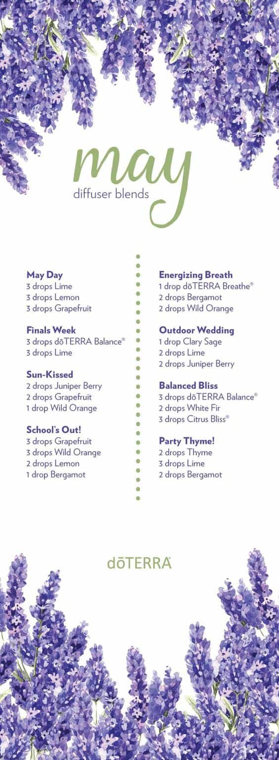 doTERRA May Diffuser Blends