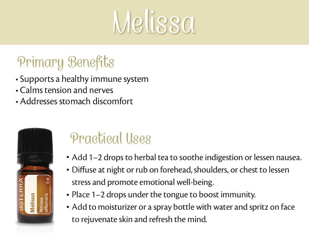 doTERRA Melissa Benefits and Uses