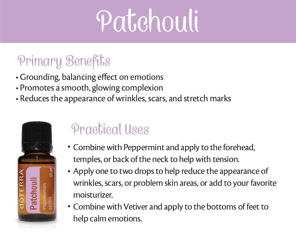 doTERRA Patchouli Benefits and Uses