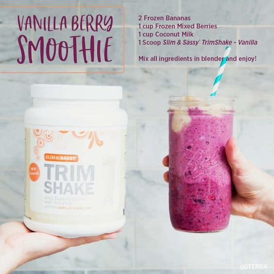 doTERRA Slim & Sassy Vanilla Berry Smoothie