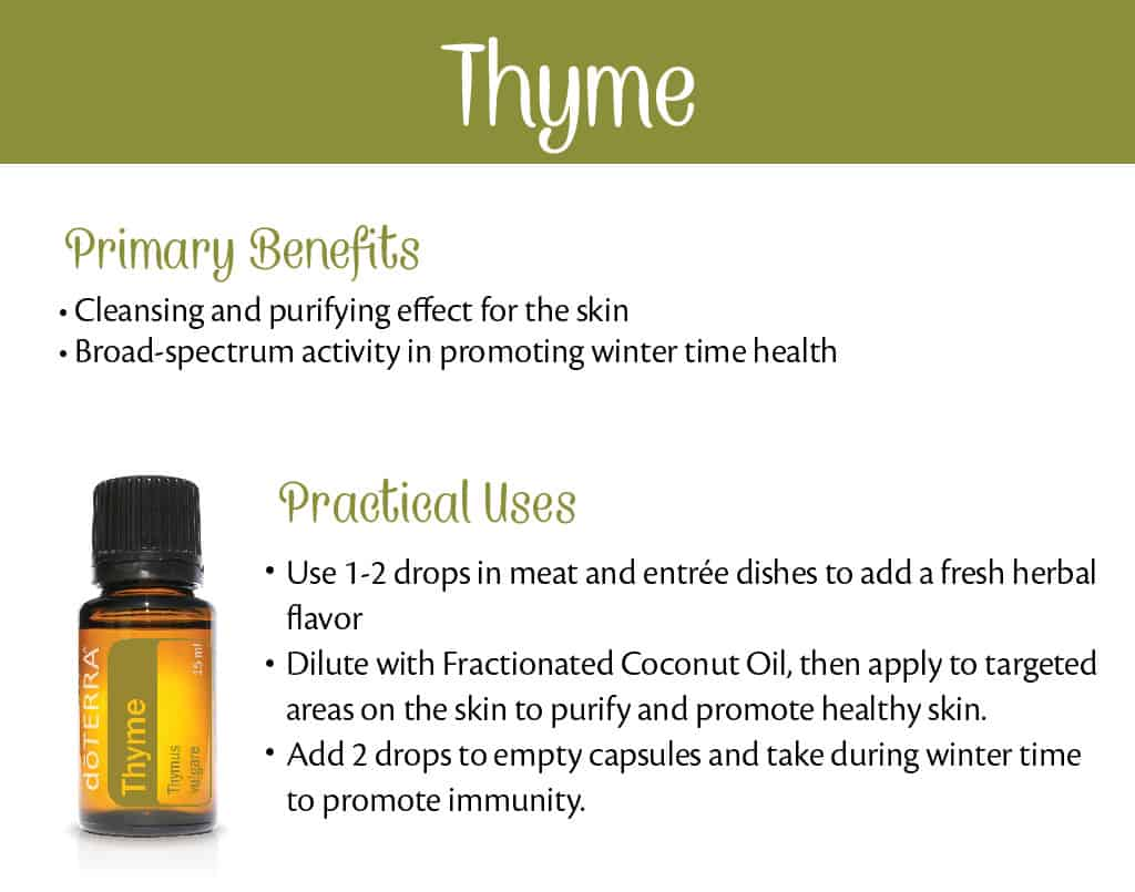 doTERRA Thyme Benefits and Uses