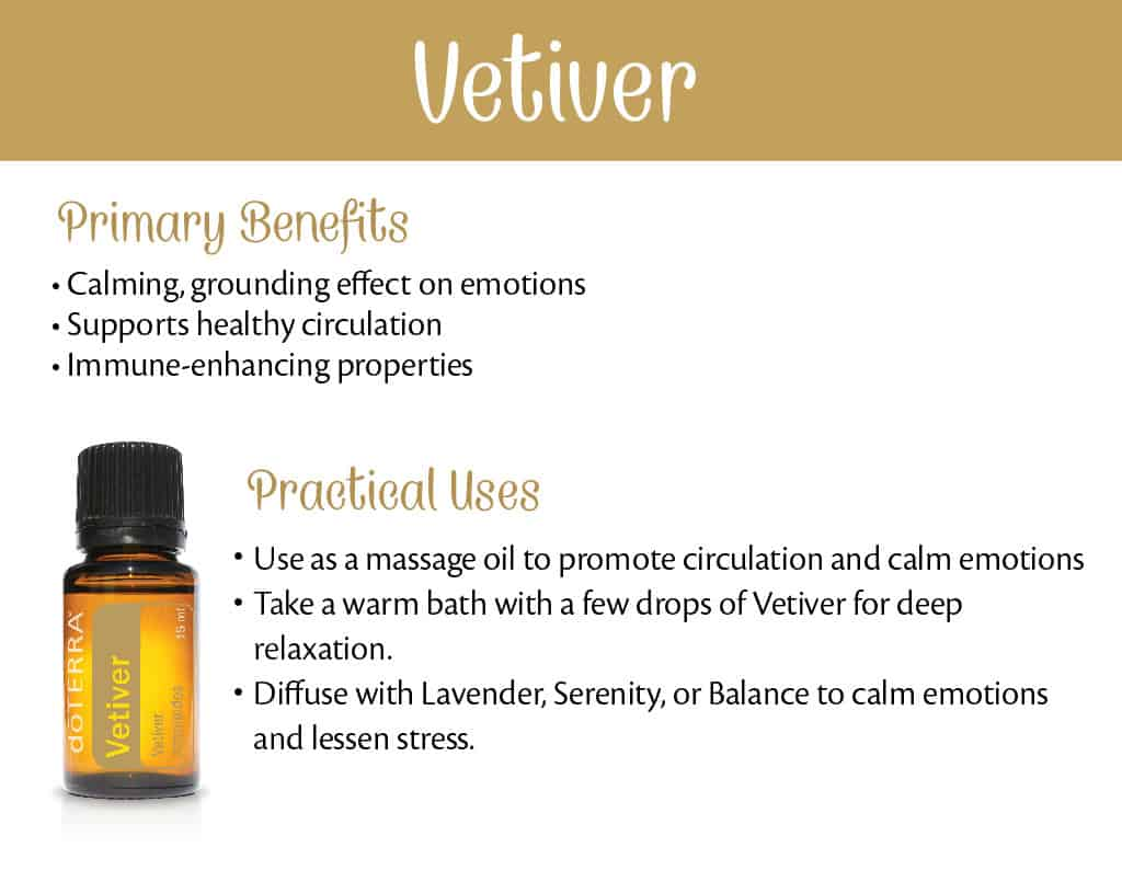 doTERRA Vetiver Benefits and Uses