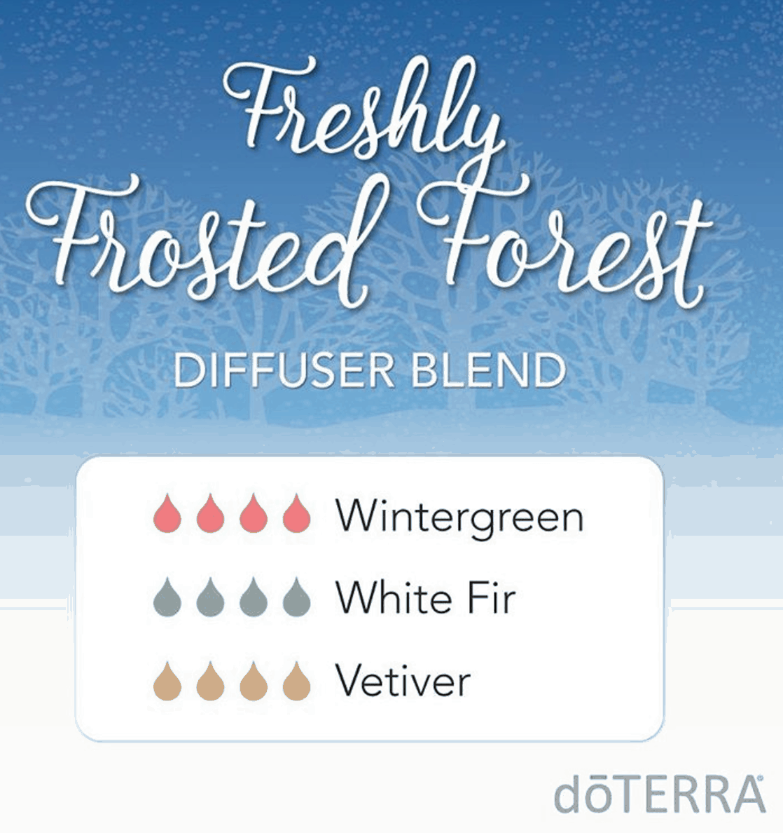 doTERRA Essential Oils Freshly Frosted Forest Diffuser Blend