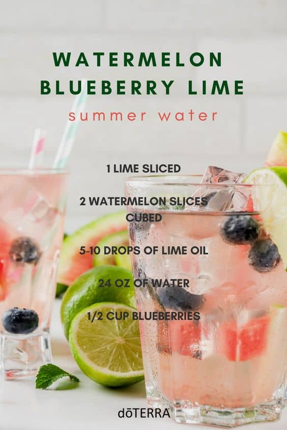 Watermelon Blueberry Lime Summer Water