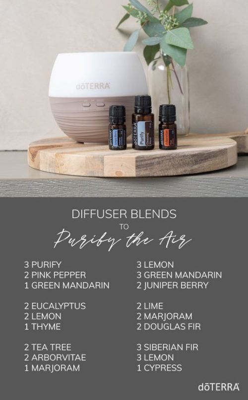 doTERRA Diffuser Blends to Purify the Air