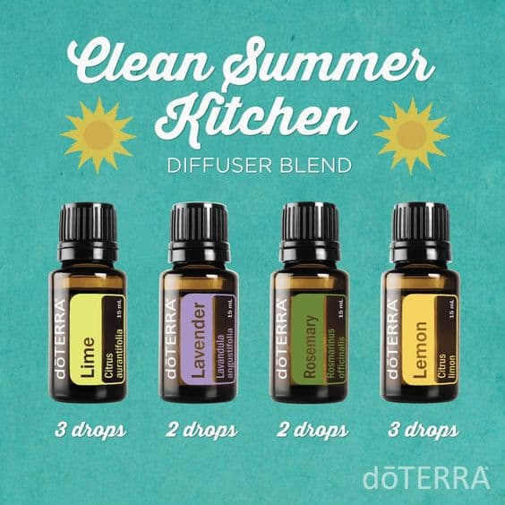 doTERRA Clean Summer Kitchen Diffuser Blend
