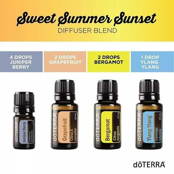 doTERRA Sweet Summer Sunset Diffuser Blend