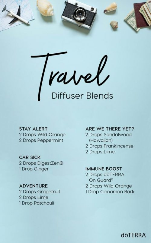 doTERRA Travel Diffuser Blends